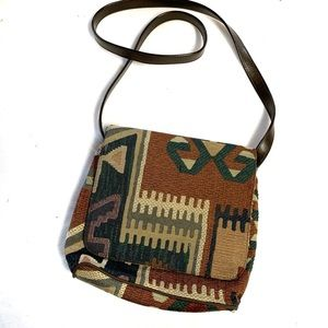 Nine West southwestern tribal print tapestry bag